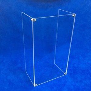 Spuckschutz für Brezelständer aus Acrylglas / Plexiglas